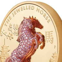 Pink Diamond Horse Rears Up in Latest Release From The Perth Mint's 3D 'Jewelled' Series